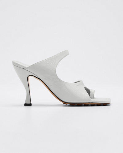 Crunch Lux Open-Square Mule Sandals