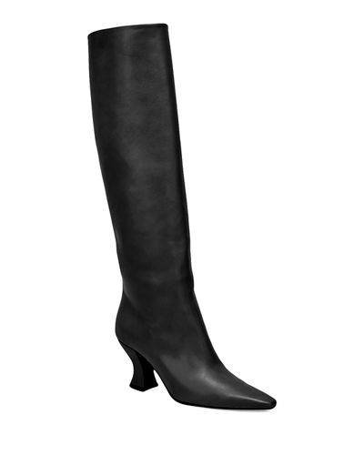 Cloud Calf Leather Tall Boots