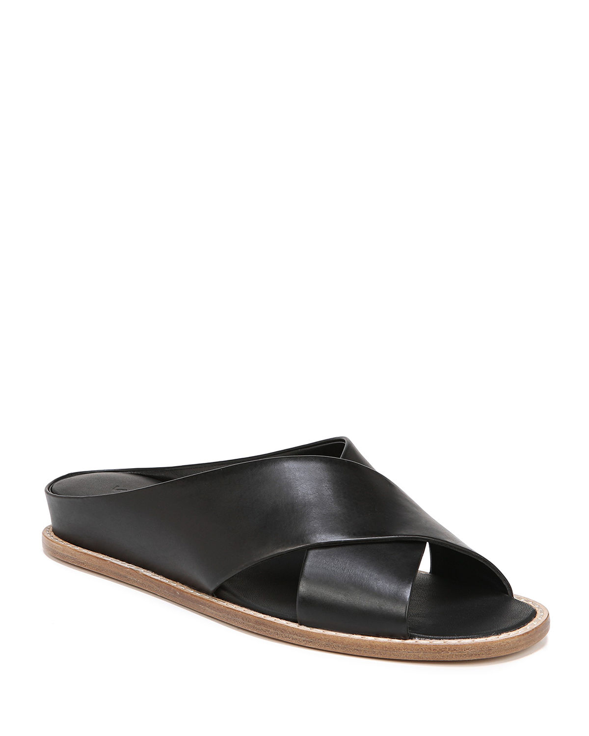 Vince Sandals FAIRLEY LEATHER WEDGE SANDALS