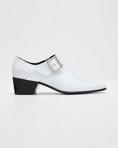Joni Leather Buckle Loafers
