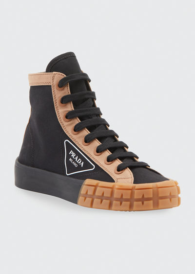 High-Top Logo Chunky Sneakers