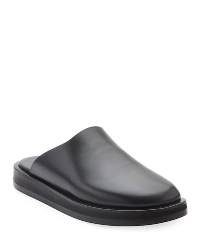 Sabot Slide Leather Mules