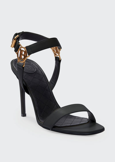 Pernille Medallion Leather Sandals
