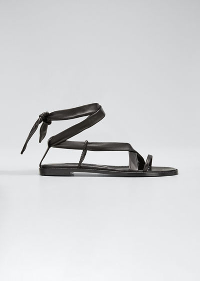 Torflat Leather Tie Sandals