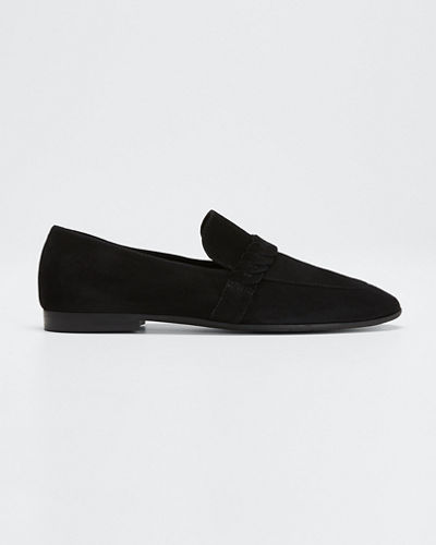 Carlee Suede Slip-On Loafers