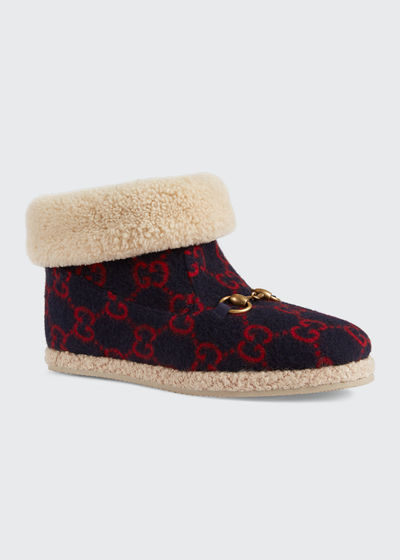Gucci Fria GG Wool Booties