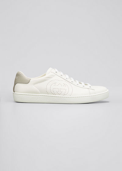 New Ace Perforated Leather Sneakers