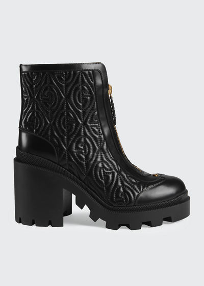 Trip 70mm Quilted Leather Booties