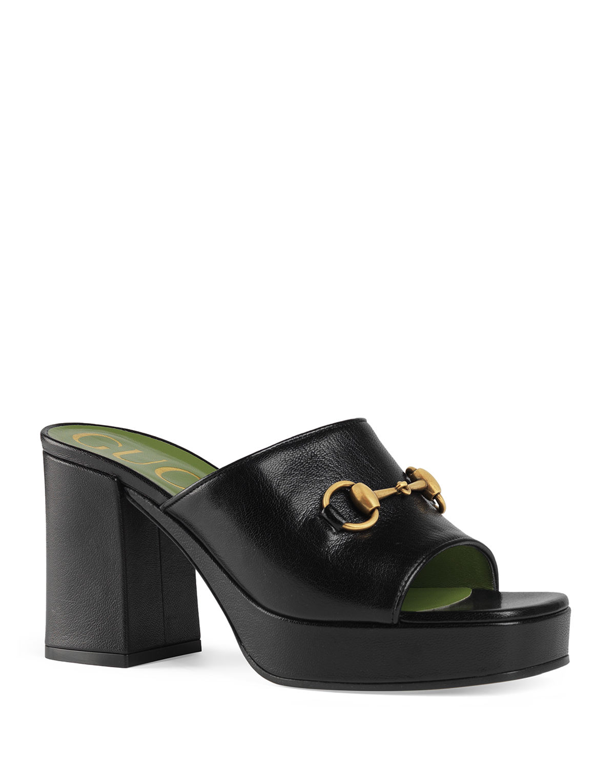 Gucci Sandals HOUDAN 85MM LEATHER SLIDE SANDALS