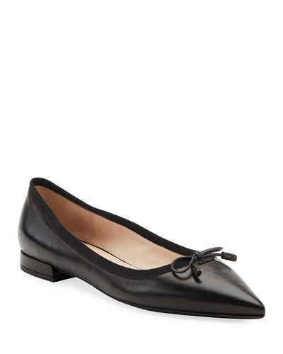 Leather Pointed Ballet Flats