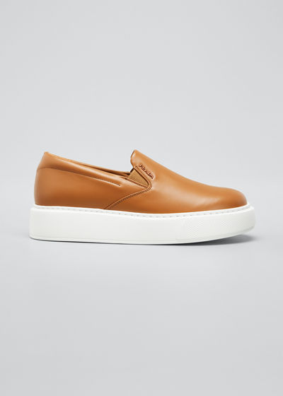 45mm Platform Leather Slip-On Sneakers
