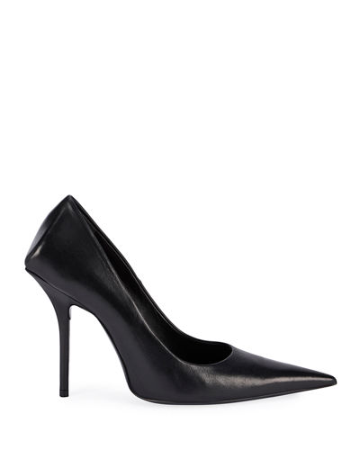 80mm Square-Back Lambskin Knife Pumps