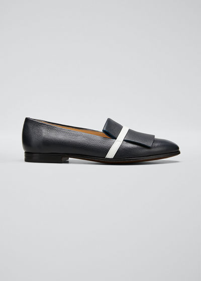 Leather Kiltie Smoking Loafers