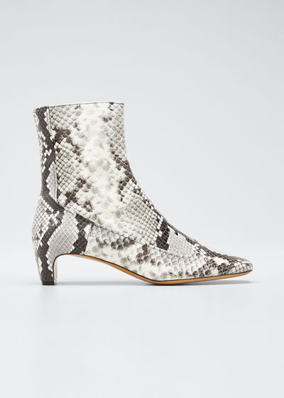 Mick 50mm Python-Print Booties