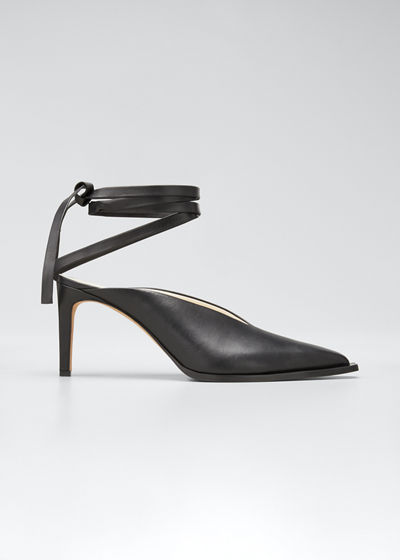 Neima Leather Ankle-Tie Pumps