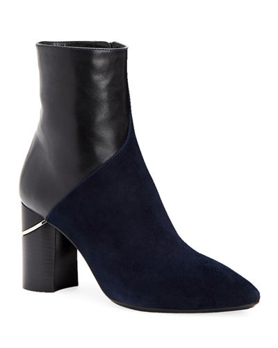 Palma Leather and Suede Booties