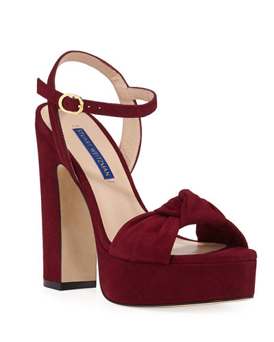Mirri Suede Block-Heel Platform Sandals