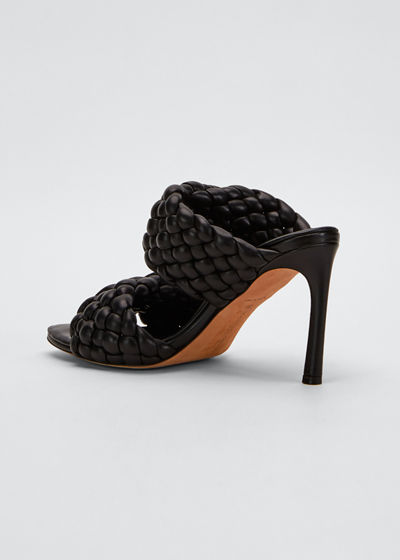Twist 95mm Woven Leather 2-Band Sandals