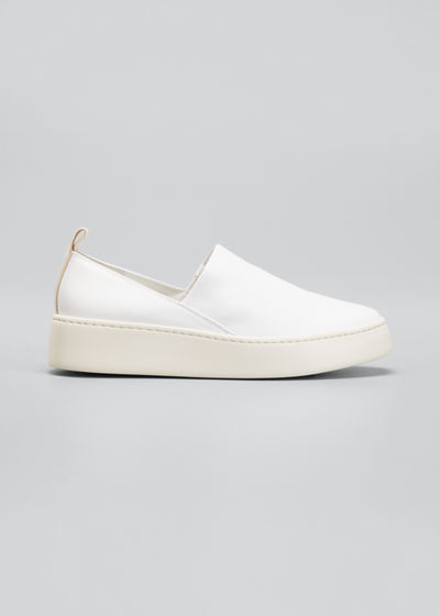 Saxon Napa Leather Slip-On Sneakers