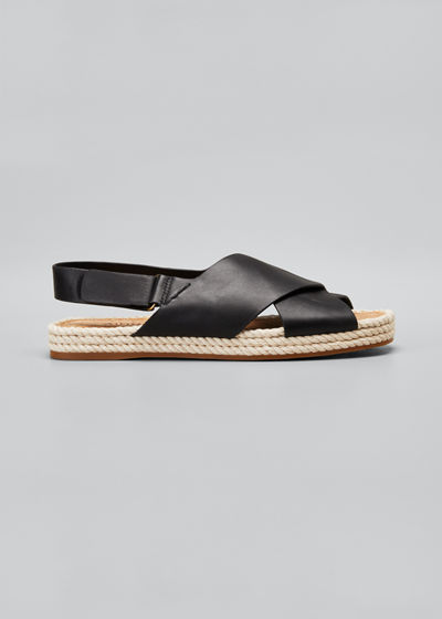 Essen Crisscross Espadrille Flat Sandals