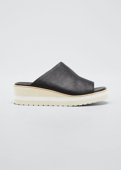 Sarria Leather Wedge Slide Sandals