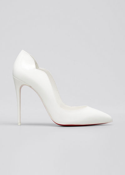 Hot Chick 100mm Patent Red Sole Pumps