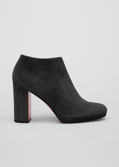 Pasteur 100mm Suede Red Sole Booties