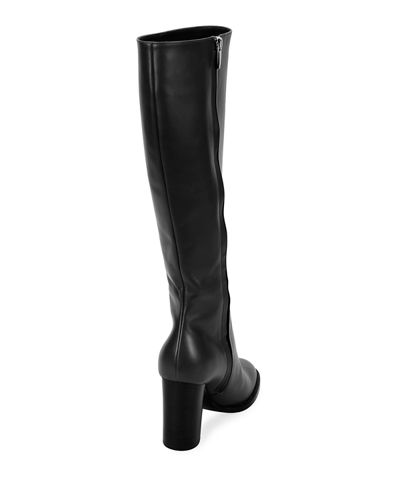 Tall Leather Knee Boots