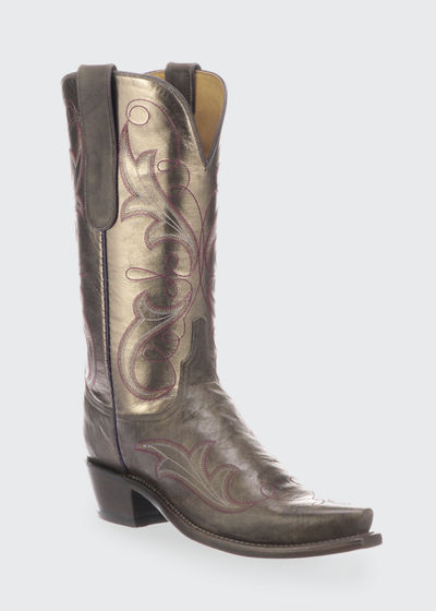 Tansy Mixed Metallic Boots