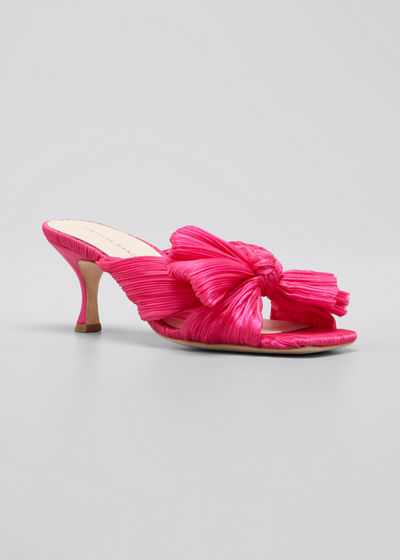 65mm Eugenia Pleated Mule Sandals