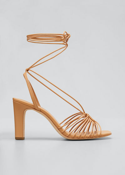 Hallie 85mm Strappy Ankle-Wrap Sandals