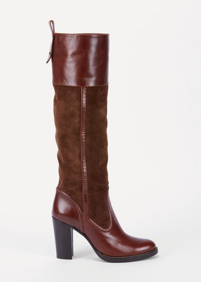Emma Mixed Leather Tall Boots