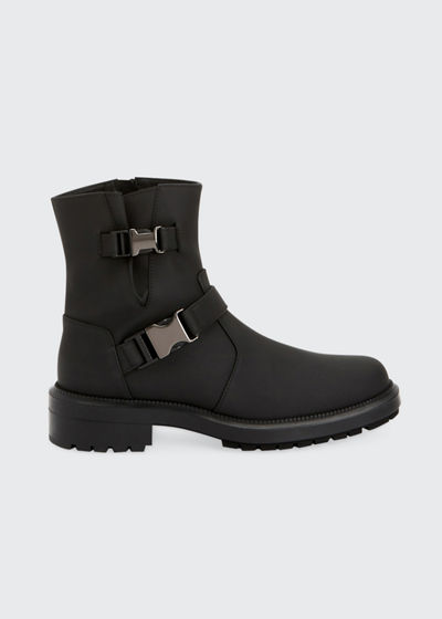 Lillie Leather Buckle Combat Booties