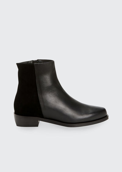 Gabrielle Mixed Leather Ankle Booties