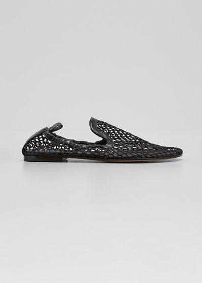 Net Slip-On Flat Loafers