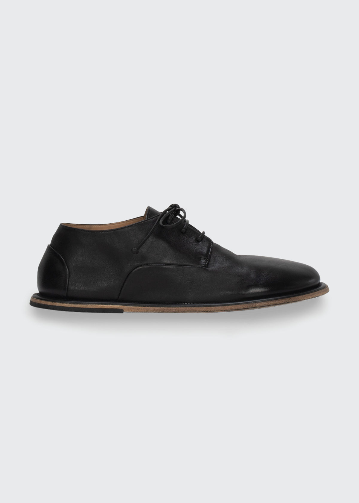 Marsèll LEATHER LACE-UP FLAT LOAFERS