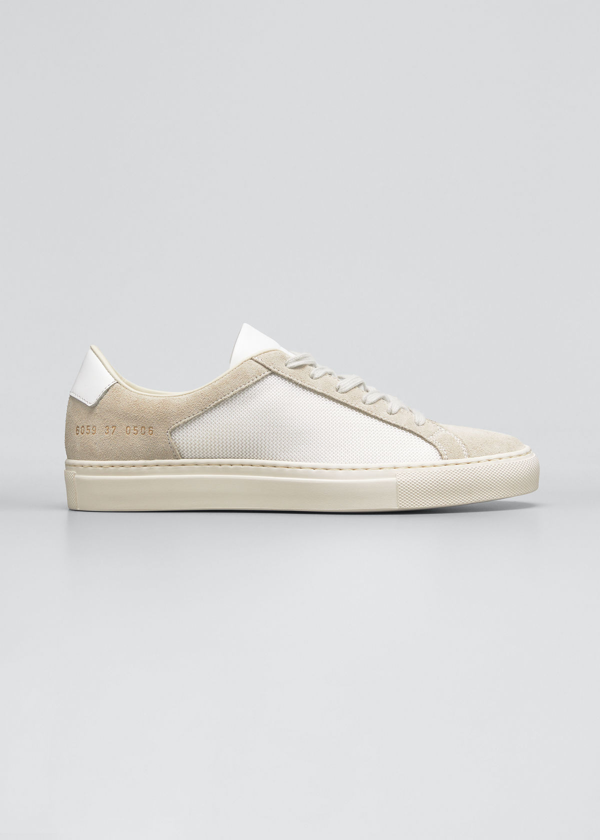 Common Projects Leathers RETRO SUMMER EDITION BICOLOR LOW-TOP SNEAKERS