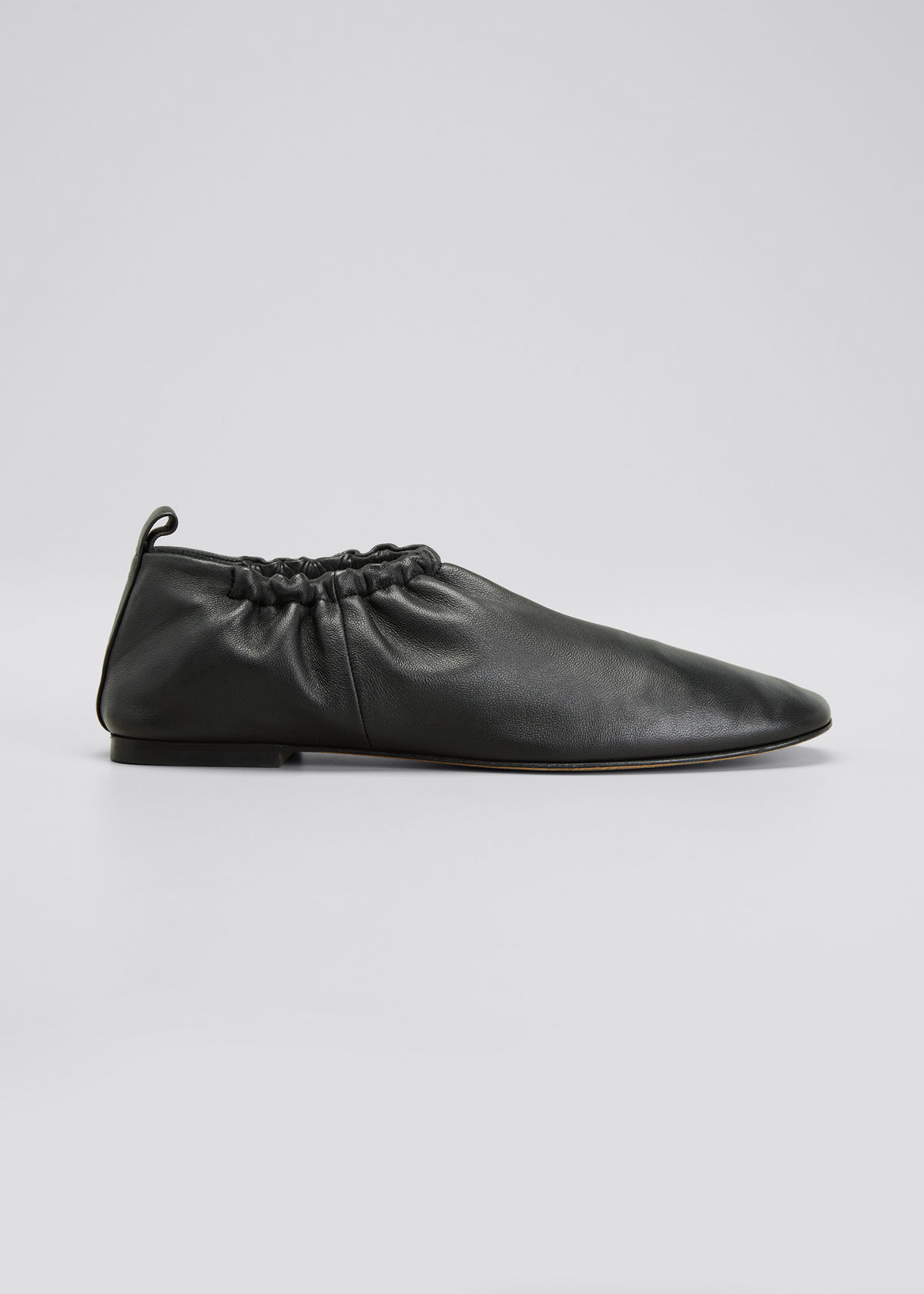 3.1 Phillip Lim RUCHED LEATHER FLAT LOAFER SLIPPERS