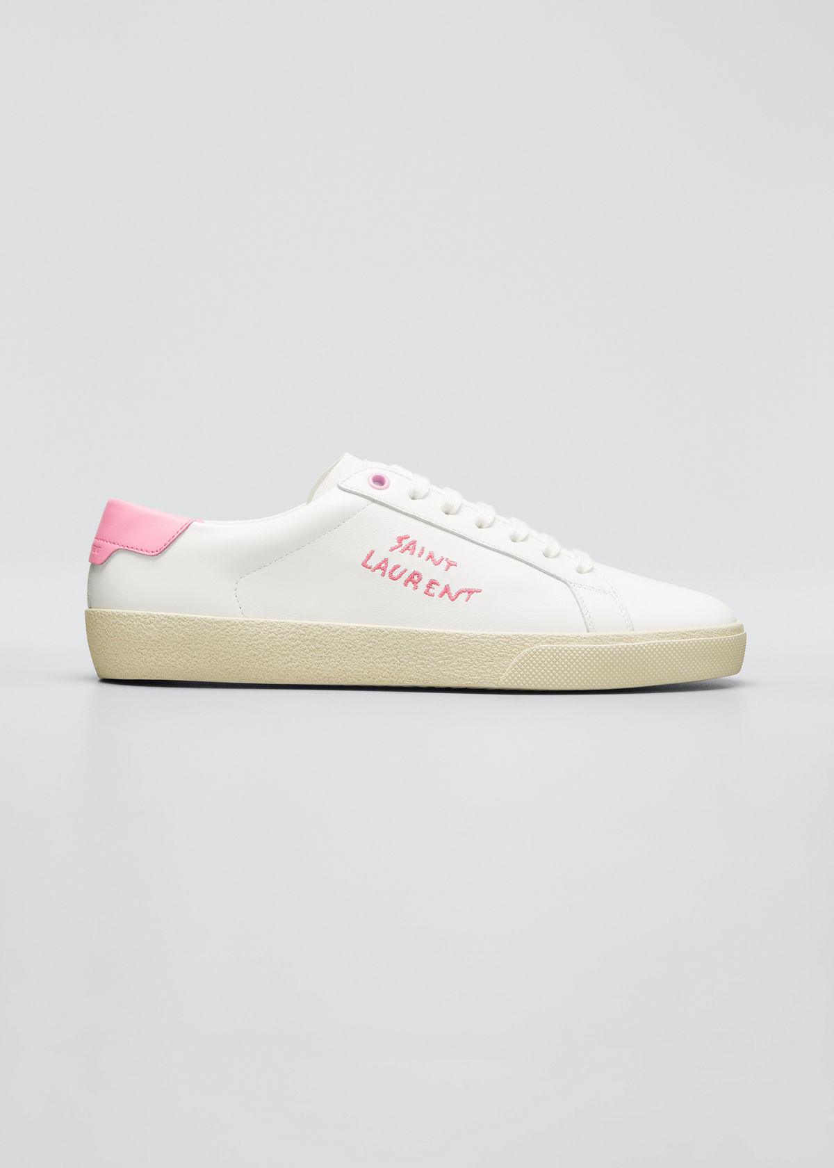Saint Laurent SIGNATURE LOGO BICOLOR SNEAKERS