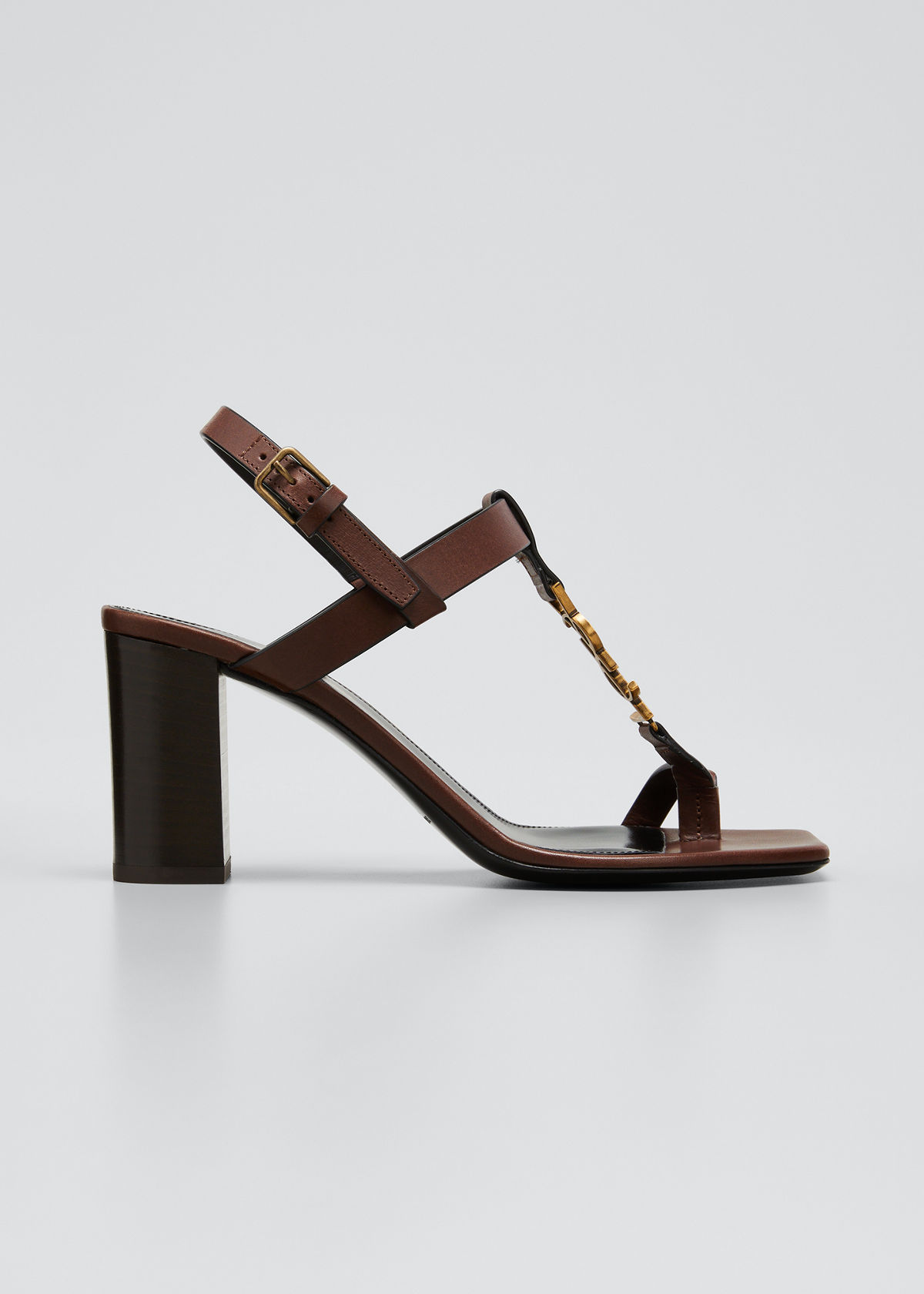 Saint Laurent CASSANDRA 75MM YSL SLINGBACK SANDALS