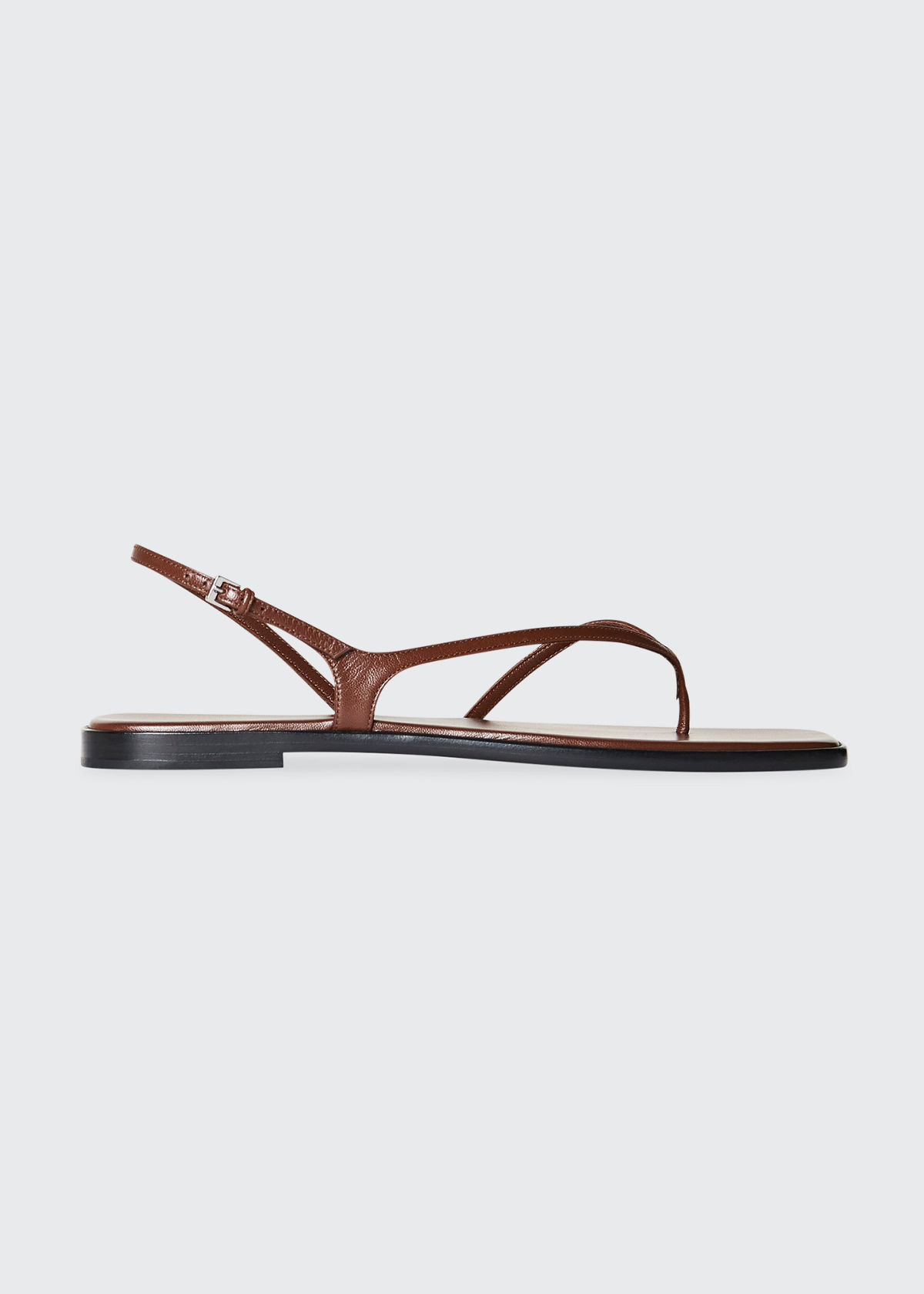The Row Leathers CONSTANCE LEATHER FLAT SLINGBACK SANDALS