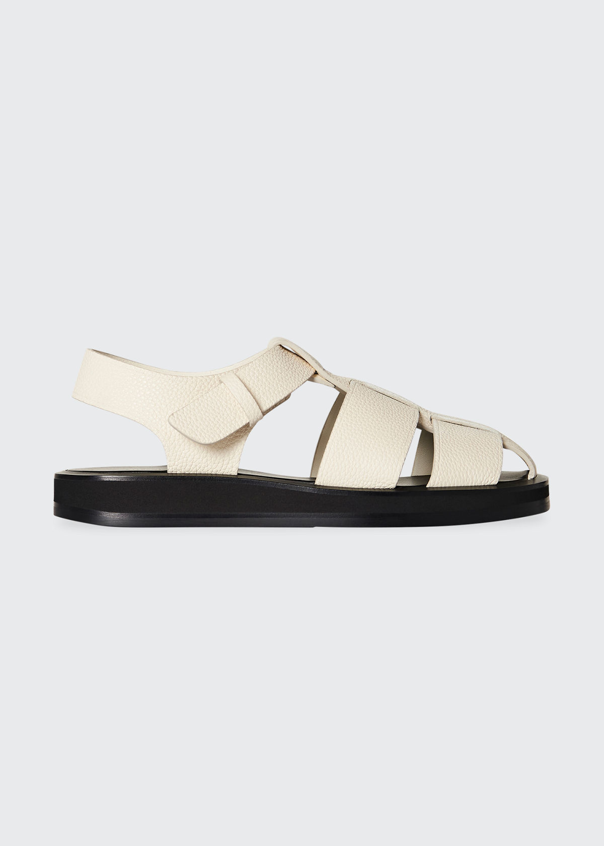 The Row Sandals FISHERMAN WOVEN SPORTY SANDALS
