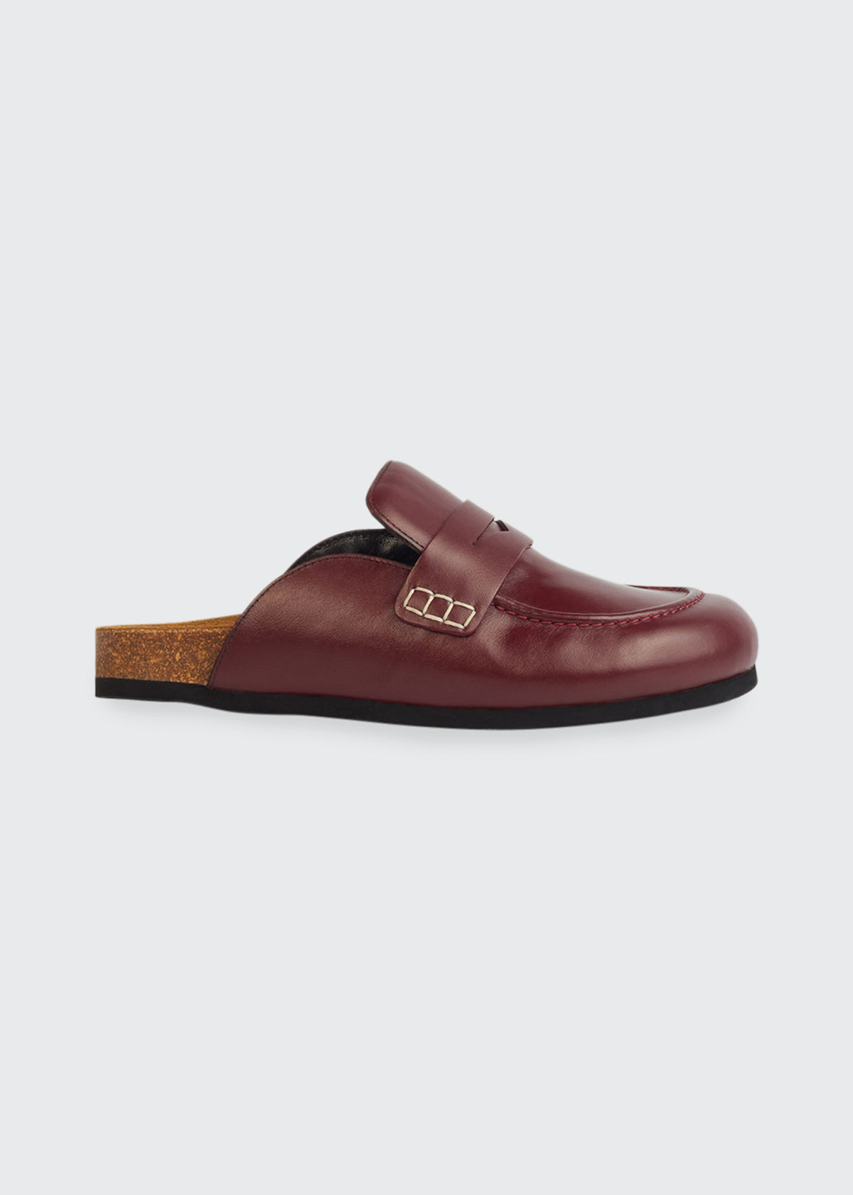 Jw Anderson LEATHER PENNY LOAFER SLIDE MULES