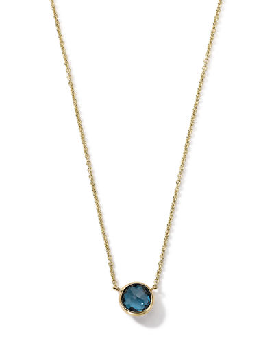 18K Gold Mini-Lollipop Birthstone Necklace, 16-18