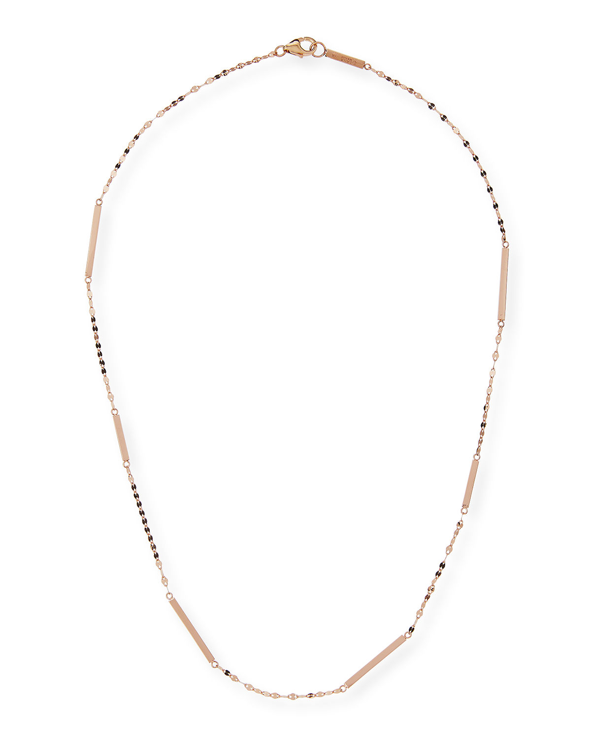 Lana Accessories 14K GOLD SHORT BAR STATION NECKLACE