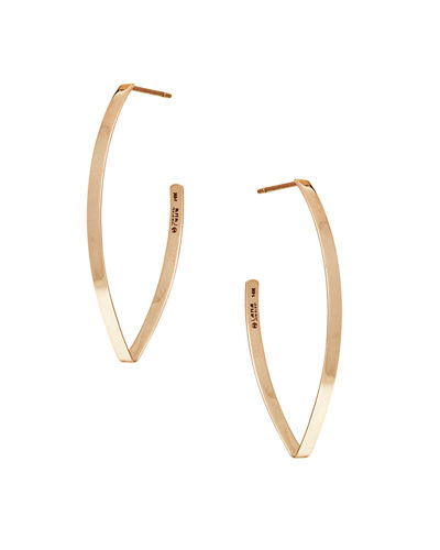 Small Flat Blake Hoop Earrings