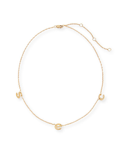 Parker Three Letter Chain Necklace
