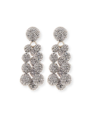 embellished drop earrings - Black Sachin & Babi