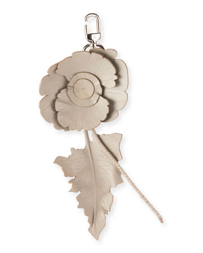 Leather Cutwork Flower Charm