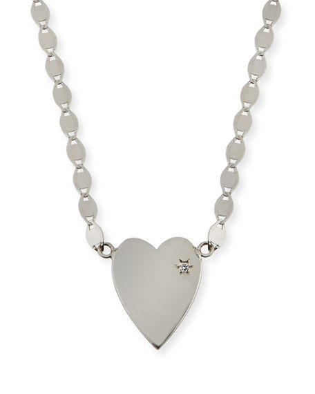 Lana 14K SMALL HEART PENDANT NECKLACE W/ WHITE DIAMOND